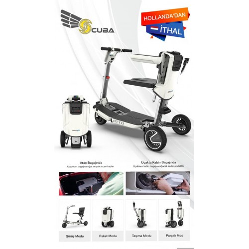 ATTO MİNİ SCOOTER - engelliler için seyahat scooterı